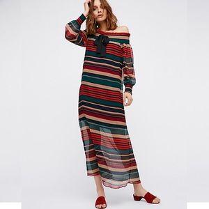Free People Striped Maxi Dress BRAND NEW!